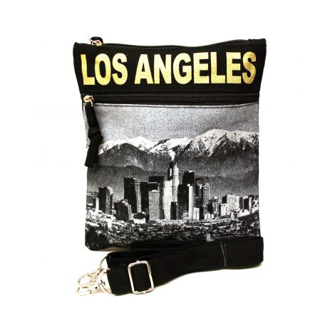 Gold Los Angeles Neck Wallet - Large