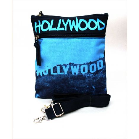Blue Hollywood Neck Wallet - Large