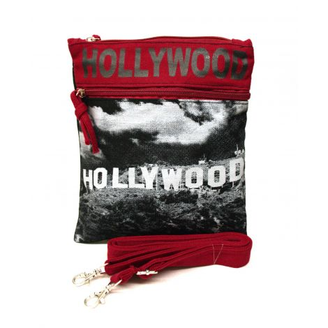 Black Hollywood Neck Wallet - Large