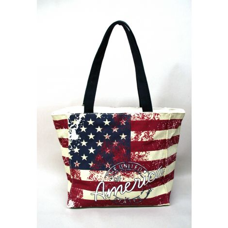 U.S Flag Canvas Shoulder Bag