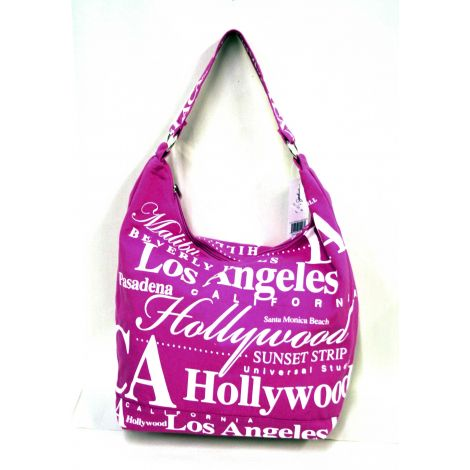 Pink Los Angeles Hobo Bag