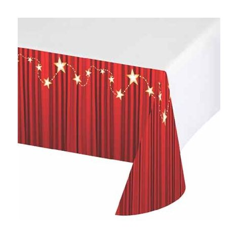 Red Curtain Table Cover