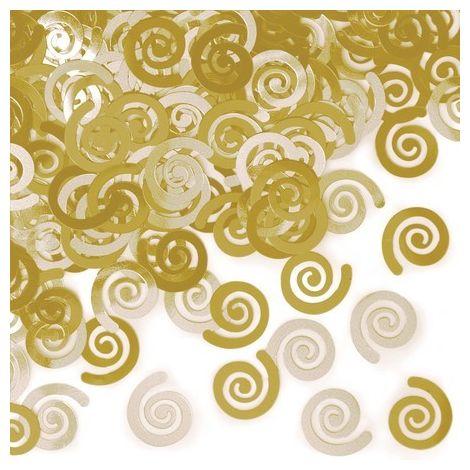 Gold Swirls Confetti