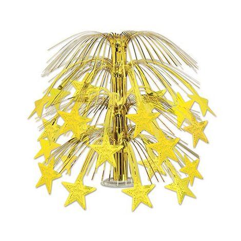 Cascading Stars Centerpiece - Gold