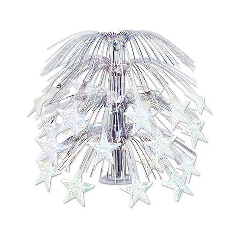 Cascading Stars Centerpiece - Silver