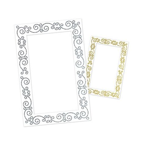 Glittered Frame Photo Prop