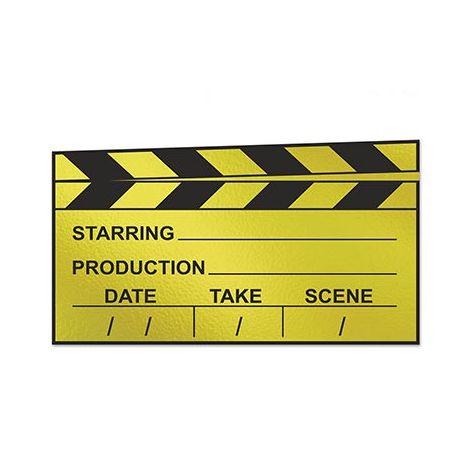 Foil Clapboard Cutout
