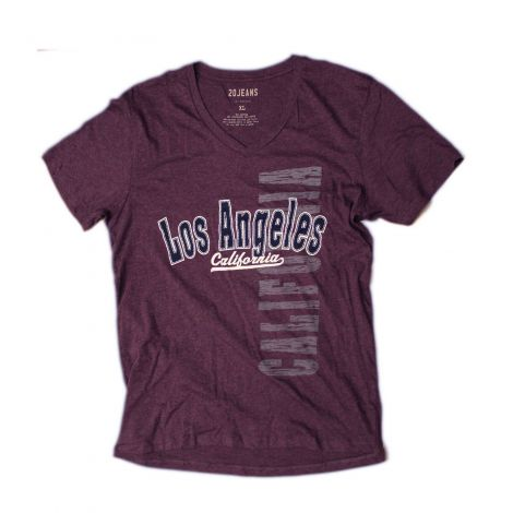 Purple Los Angeles V-neck Shirt