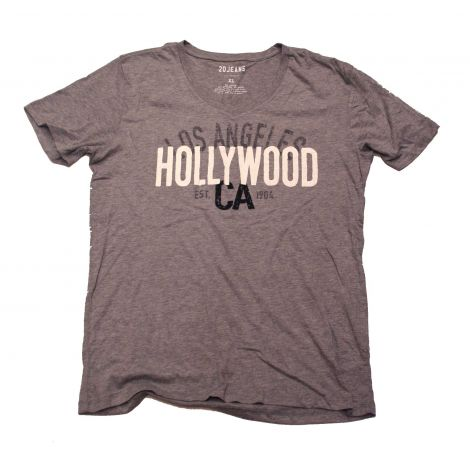 Grey Hollywood V-neck Shirt
