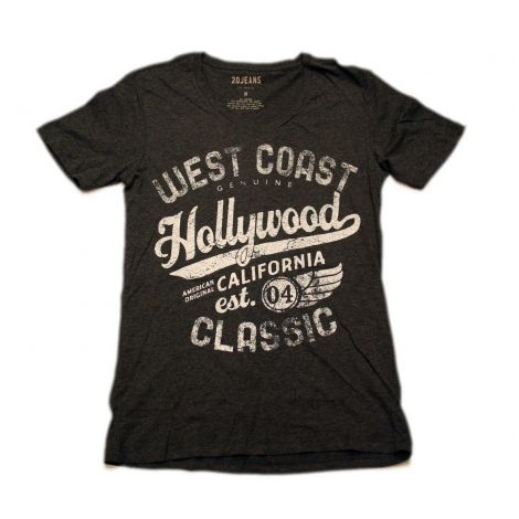 Charcoal Hollywood V-neck Shirt