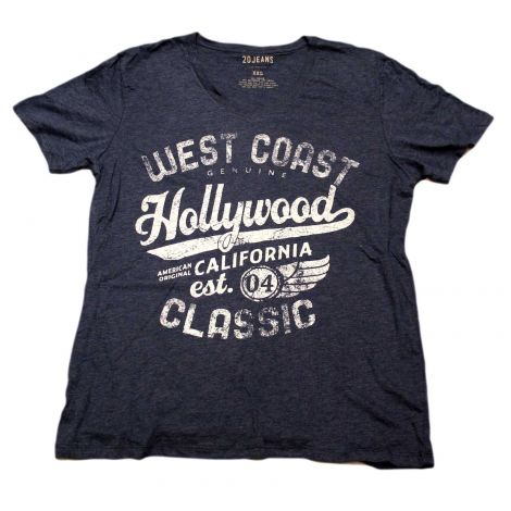 Navy Blue Hollywood V-neck Shirt