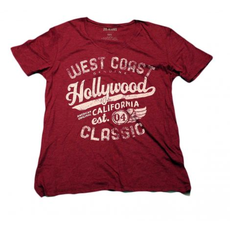 Red Hollywood V-neck Shirt