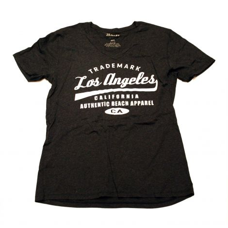Black Los Angeles V-neck Shirt