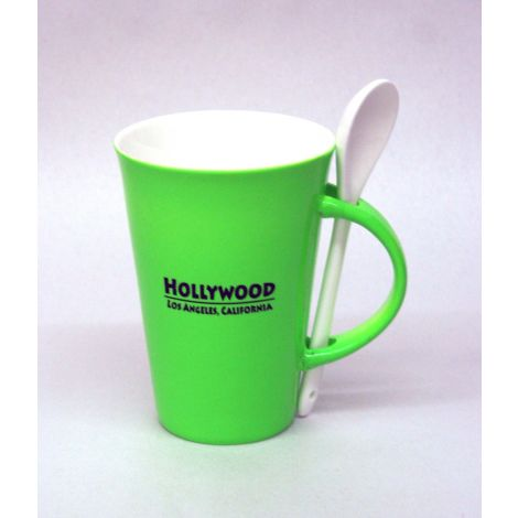 Hollywood Mug with Spoon - Green