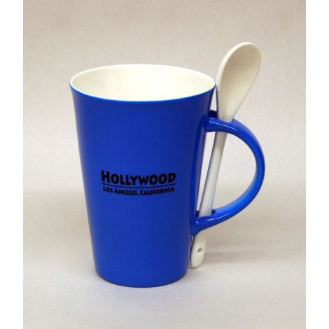 Hollywood Mug with Spoon - Blue