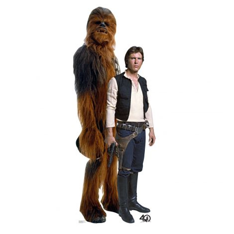 Han Solo and Chewbacca Cardboard Cutout #2462