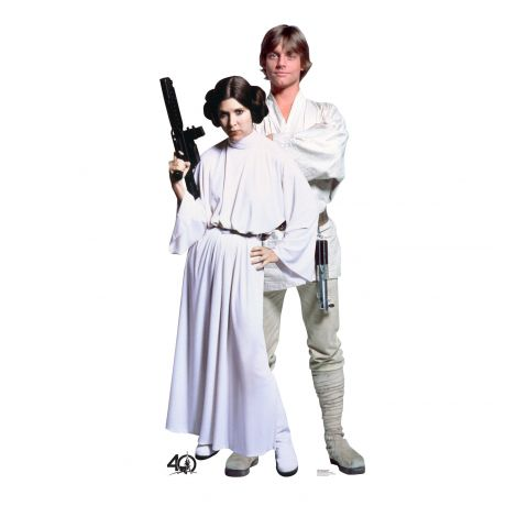 Luke and Leia cardboard cutout #2463
