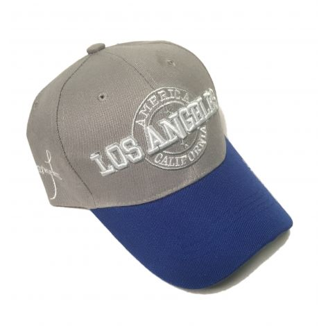 Gray and Navy Los Angeles cap