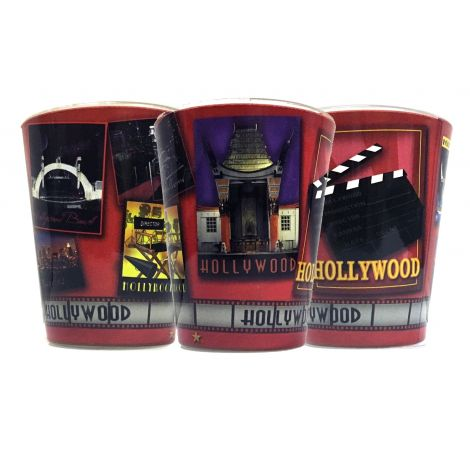 Hollywood red Icons  shot glass