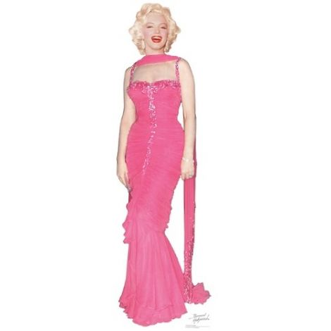 Marilyn Monroe in Pink Dress Cutout#1012