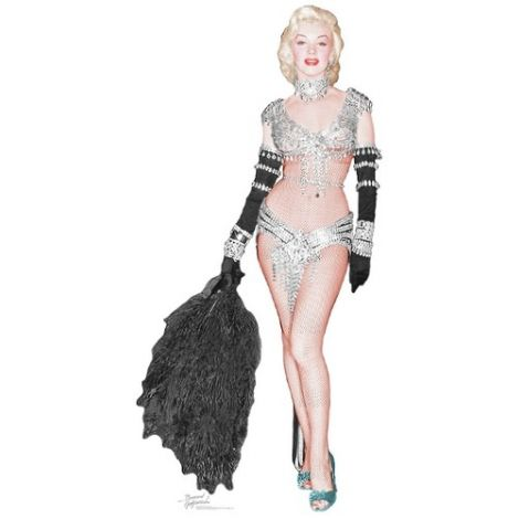 Marilyn Monroe as a Showgirl cutout#1013