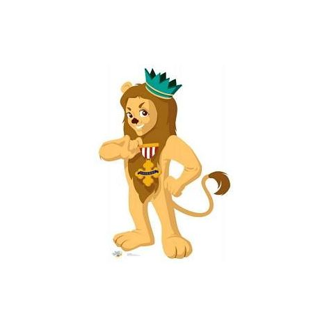Cowardly Lion Wizard of OZ Kids Cutout #1073