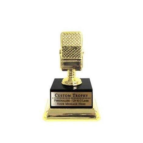 Custom Microphone Trophy