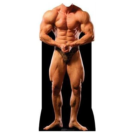 Muscle Man Stand-In Cardboard Cutout #1270