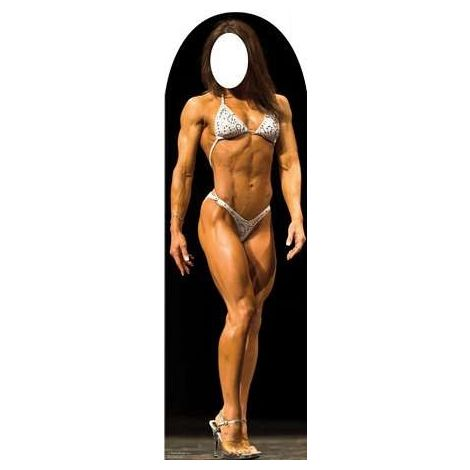 Muscle Woman Stand-In Cardboard Cutout #1271