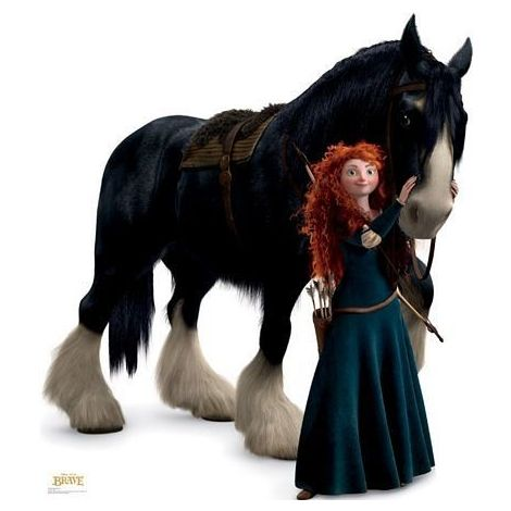 Merida and Angus from Disney Pixar Brave Lifesize cardboard Cutout #1207