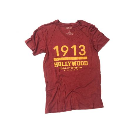 Red Hollywood V- neck Shirt