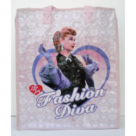 I Love Lucy Fashion Diva Woven Tote Bag