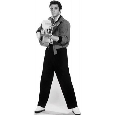 Elvis Black & White Lifezise Cardboard Cutout #1349
