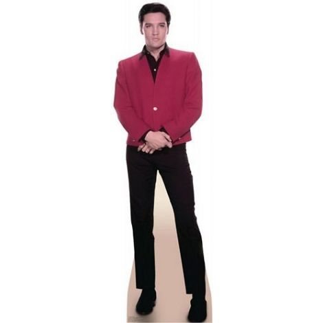 Elvis Red Jacket Lifezise Cardboard Cutout #1351