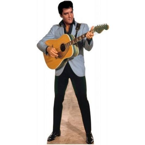 Elvis Light Blue Jacket Lifezise Cardboard Cutout #1352