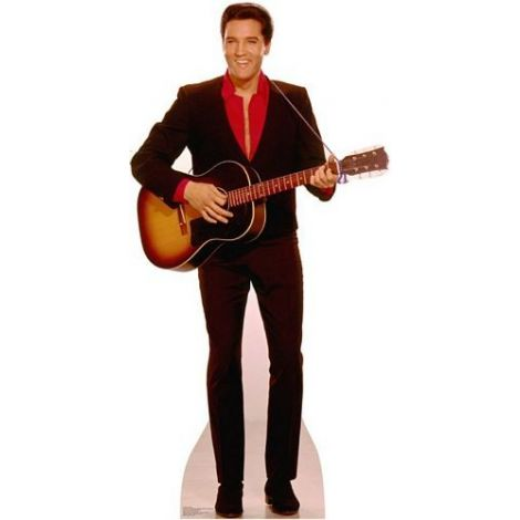 Elvis with Guitar Lifezise Cardboard Cutout #1353