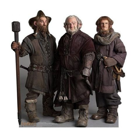 Nori, Dori and Ori The Dwarfs The Hobbit Lifezise Cardboard Cutout #1404