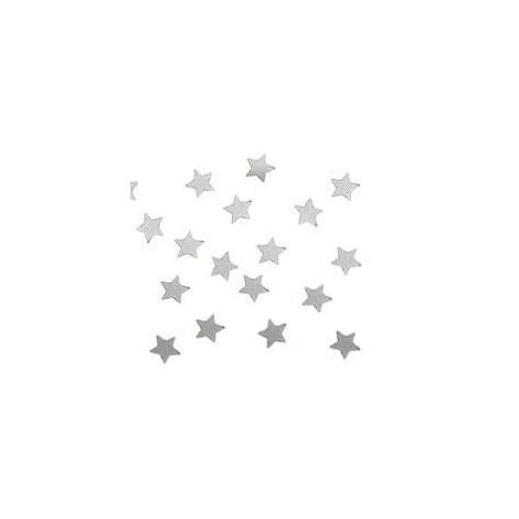 Metallic Stars Confetti - Silver