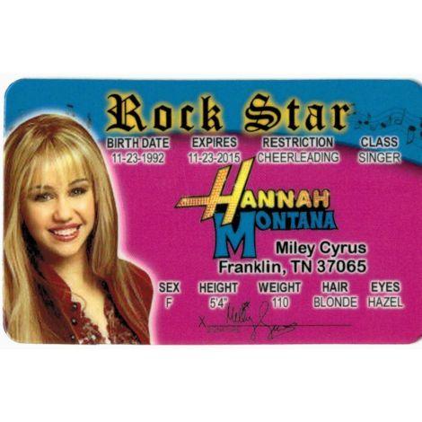 Hannah Montana Driver License