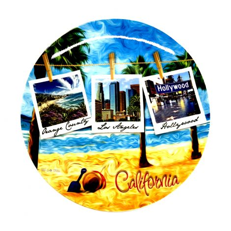 California Polaroid Decorative Plate
