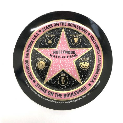 Black Walk Of Fame Decorative Plate