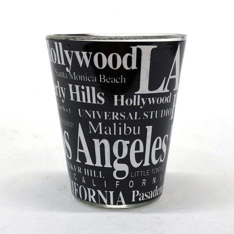 Black Los Angeles Shot Glass
