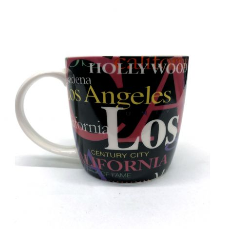 Black Los Angeles Coffee Mug
