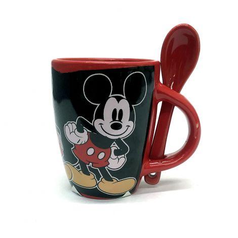 Mickey Icon Red And Black Mug Espresso Mug With Spoon