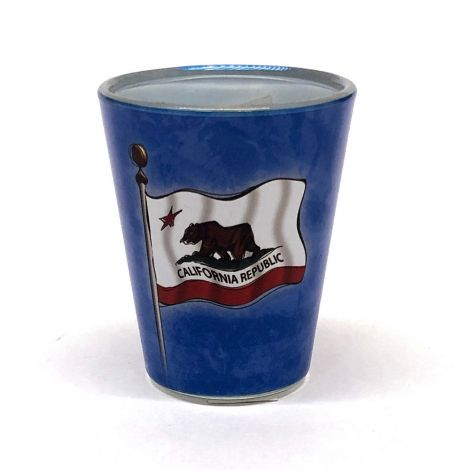 California Map, Flag Shot Glass