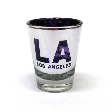 LA Los Angeles Metallic Shot Glass