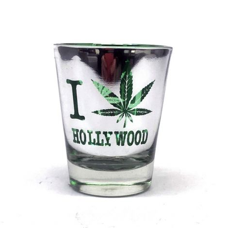 I Love Hollywood Cannabis Shot Glass