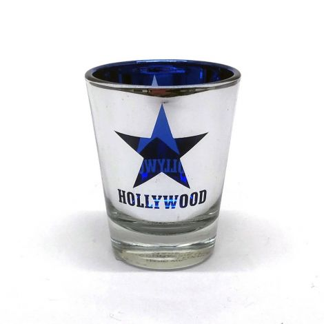 Hollywood Blue Star Metallic Shot Glass