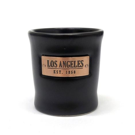 Black Shooter With Gold Sign Los Angeles East 1850 Shot Glass