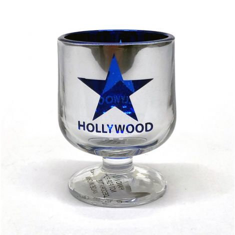 Chrome Hollywood With Blue star brandy snifter